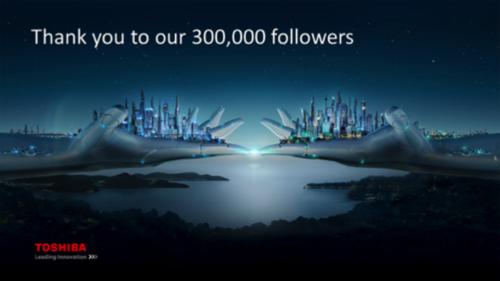 TSC's LinkedIn page surpasses 300,000 followers (Japanese news release)    image: Toshiba Smart Community (TSC) website