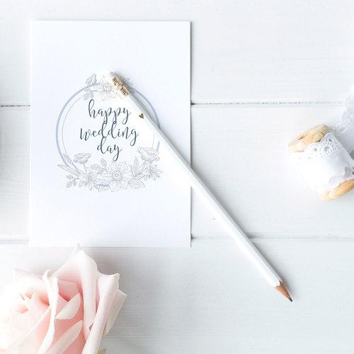 Happy wedding day card jakbern creative happy wedding day card junglespirit Images