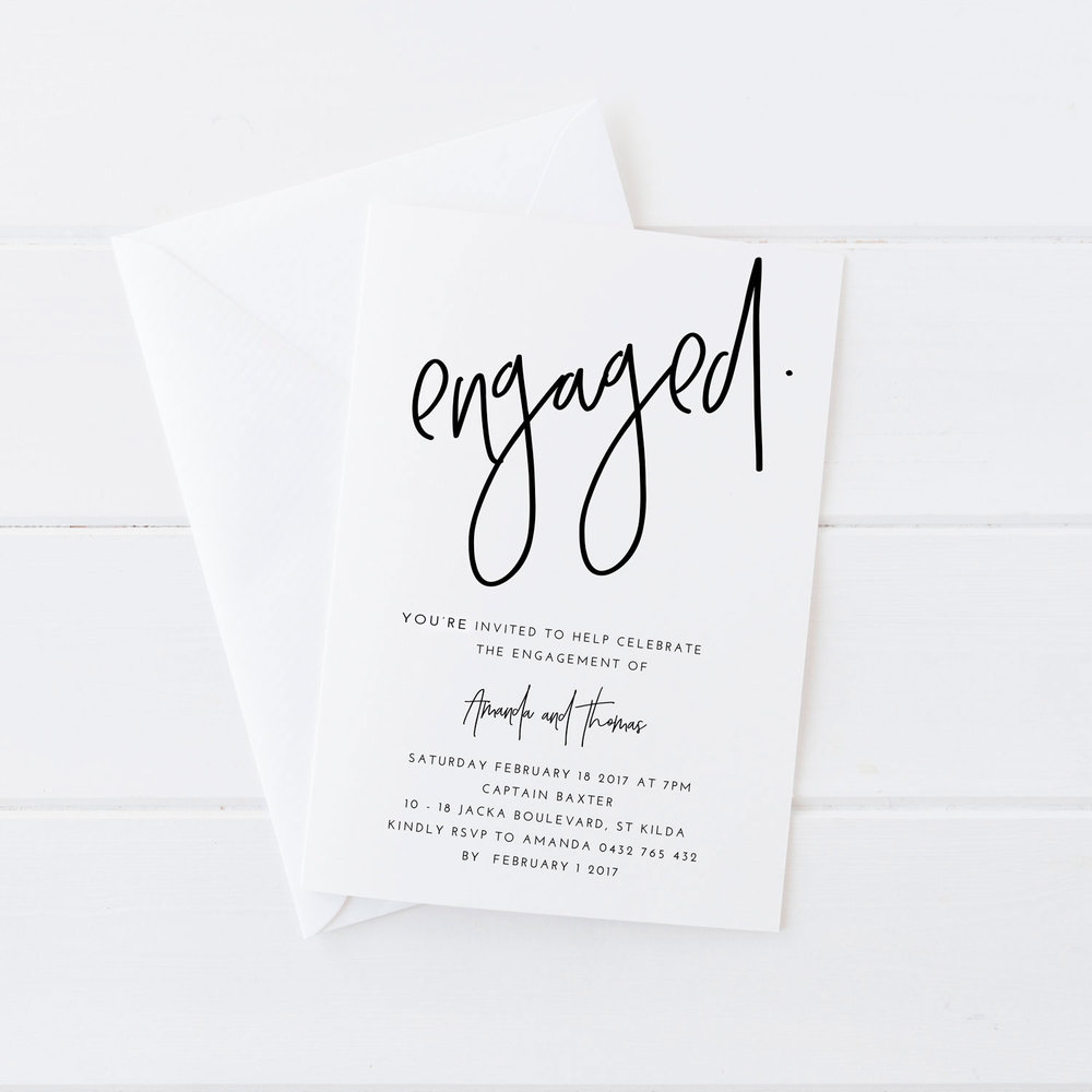 Engaged Engagement Invite JAKBERN CREATIVE