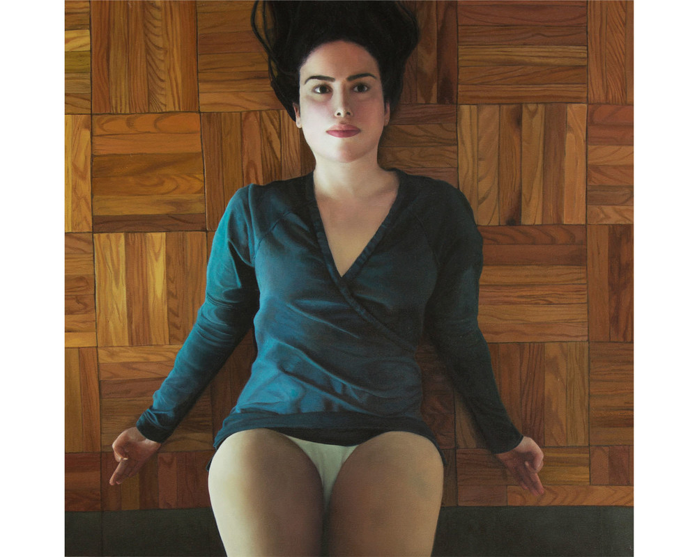 """Right Side Up"", Oil on Canvas, 36"" x 36"", 2013"