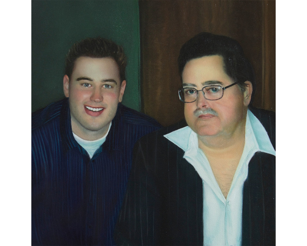 """Joe and his Father"", Oil on Canvas, 20"" x 20"", 2014"