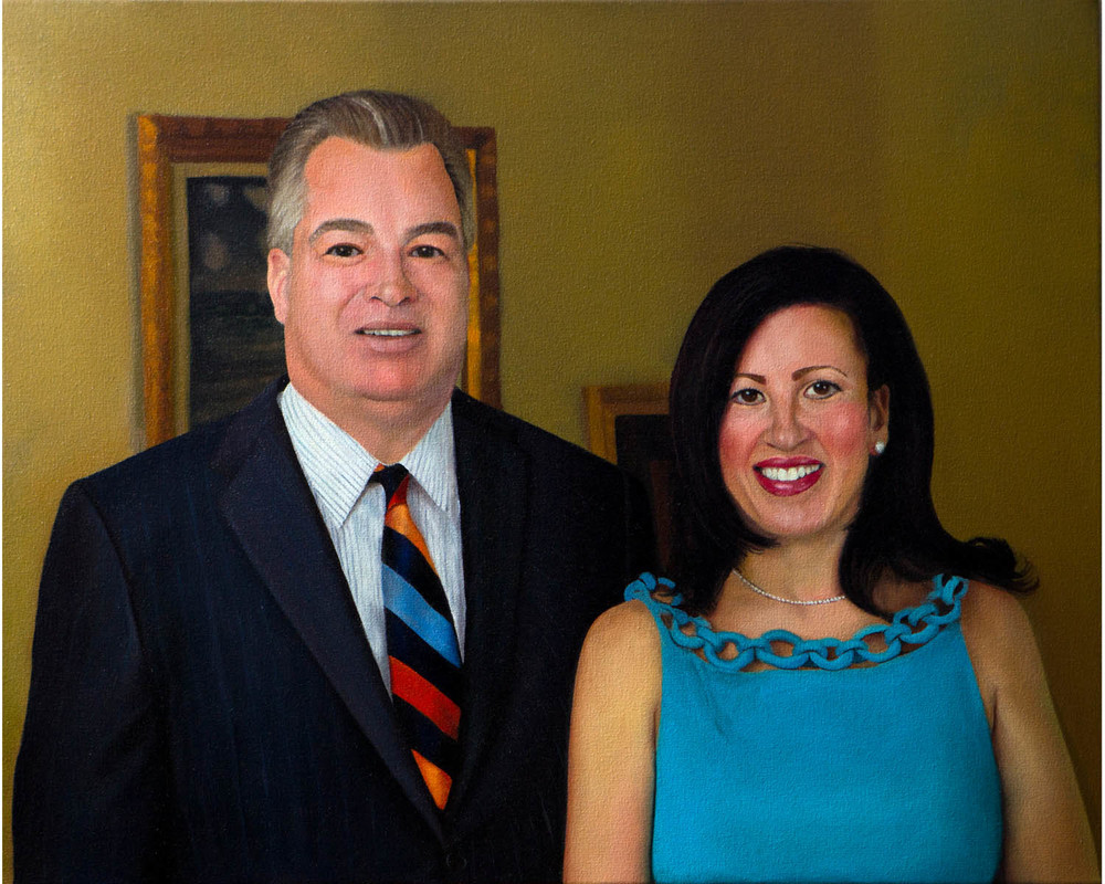 """Dean and Valerie Commission"", Oil on Canvas, 24"" x 30"", 2014"