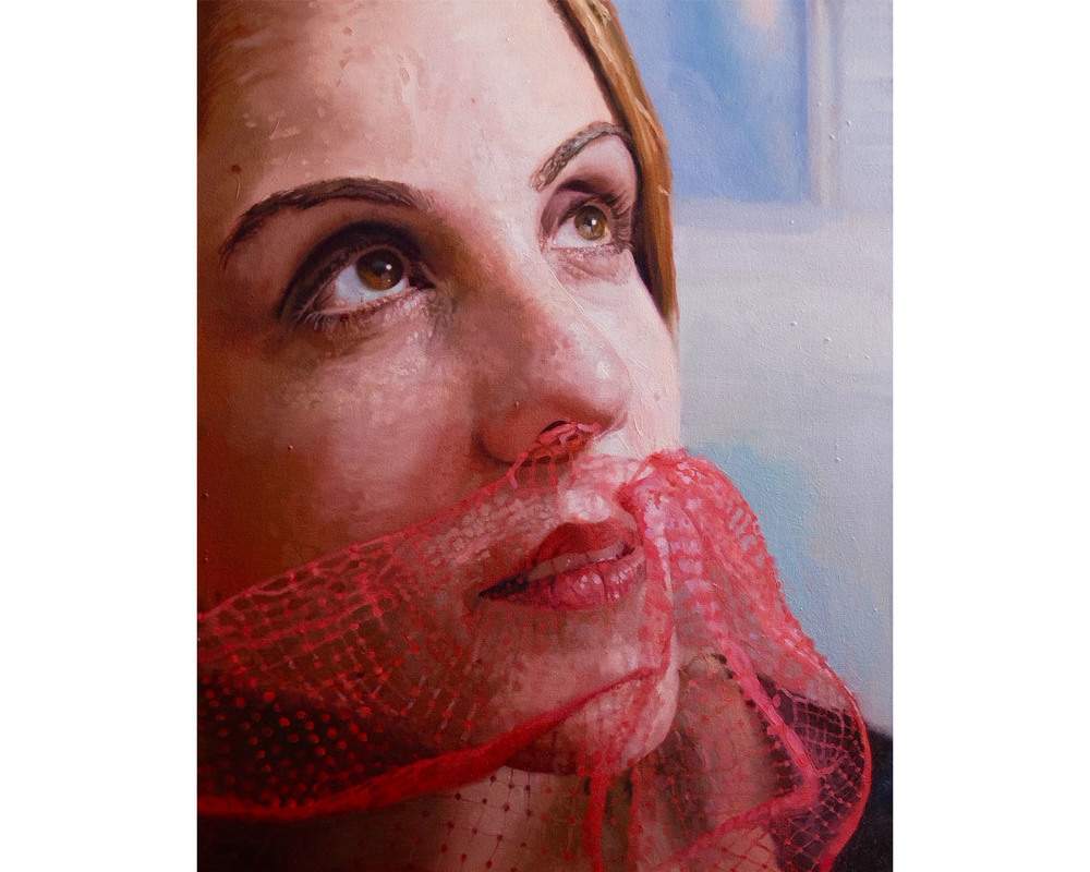 """Mesh"", Oil on Canvas, 24"" x 30"", 2015"
