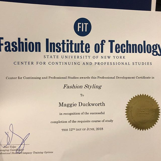 That feeling when this is what's waiting for you in the mail. Wow. It's really finished. Can't wait to celebrate at graduation next week! Mom and Dad are flying in for the festivities! . . . #done #fitnyc #fitnyc