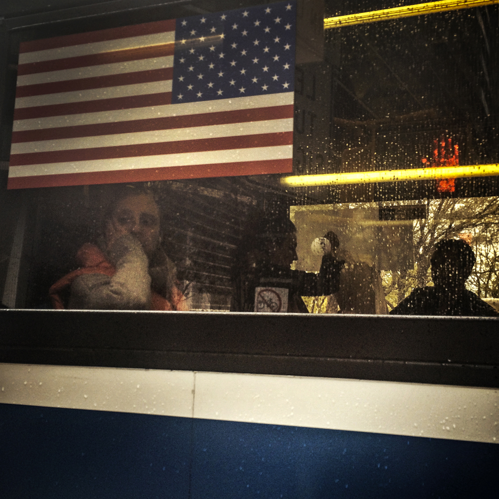 Passing Bus, Midtown, 2014