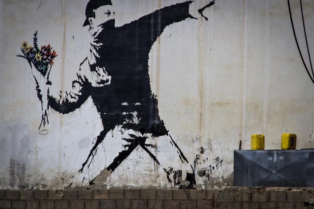 Banksy Art, Bethlehem, 2013