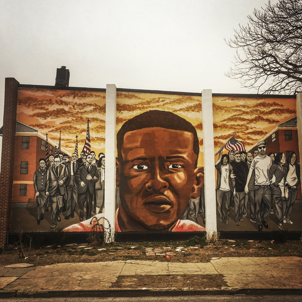 Freddie Gray Mural, Baltimore, Maryland, 2017