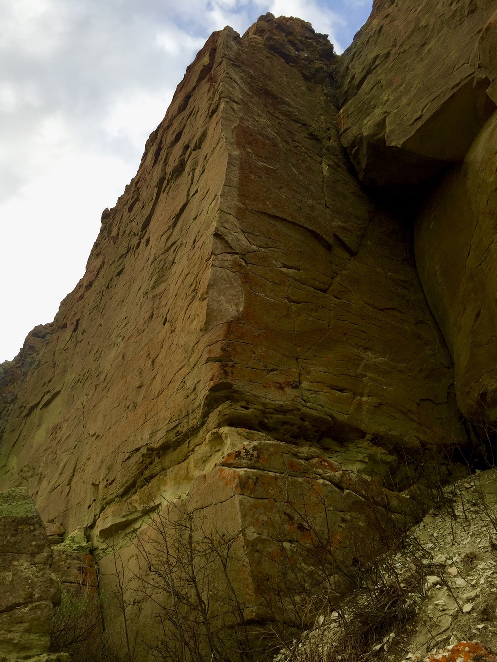 Project - a line I scrubbed on the arete, High Plains Drifter, 5.11+?