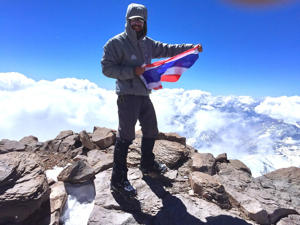 Summit with the Thai flag