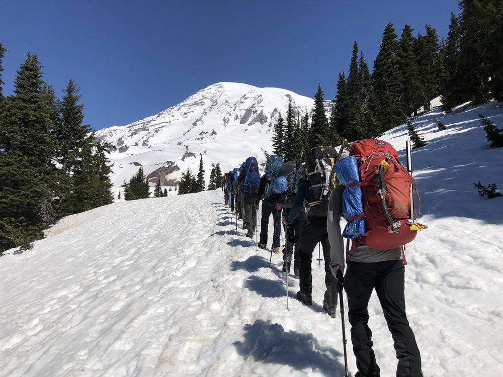 First trip up Rainier