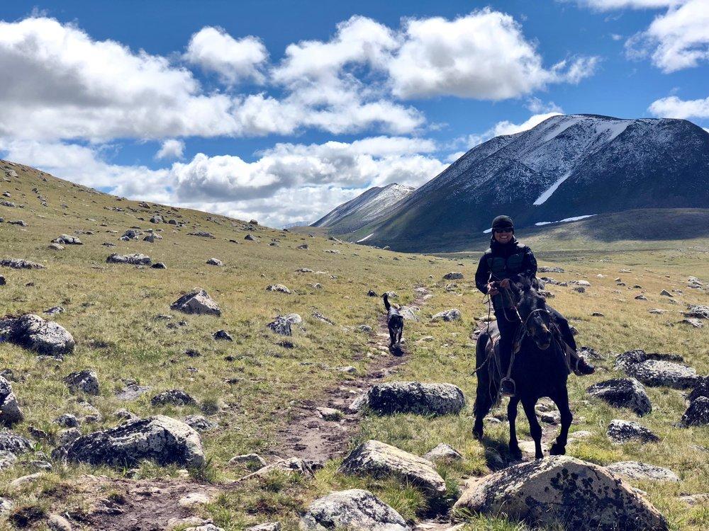 Kada on horseback