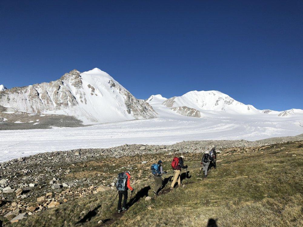 Trekking to basecamp