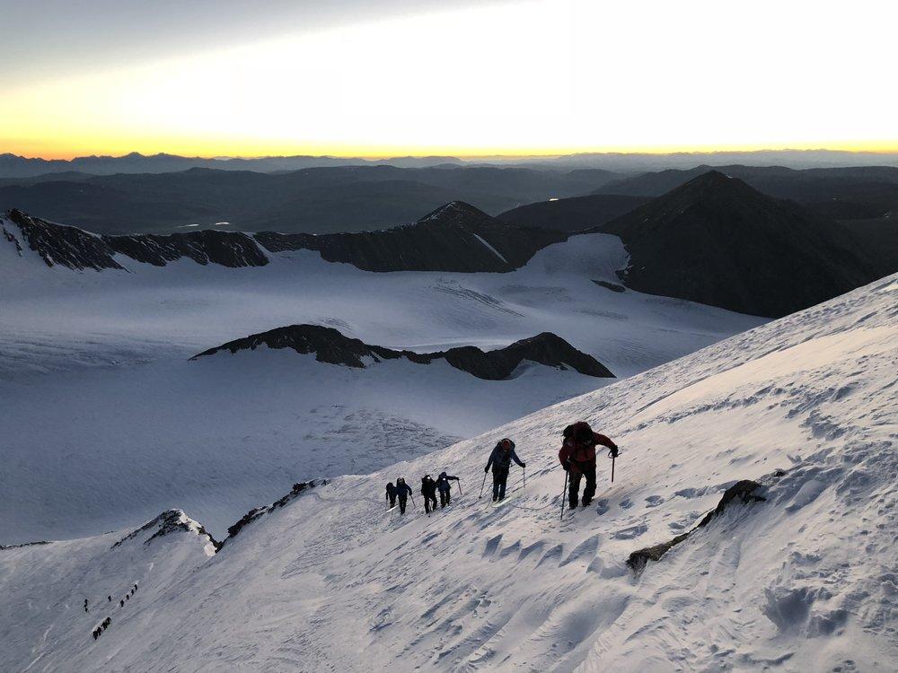Morning light on Mount Khuiten