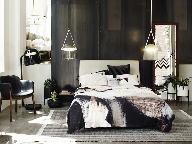 """Lilith"" Linen bedding at Spence&Lyda Sydney Showroom"