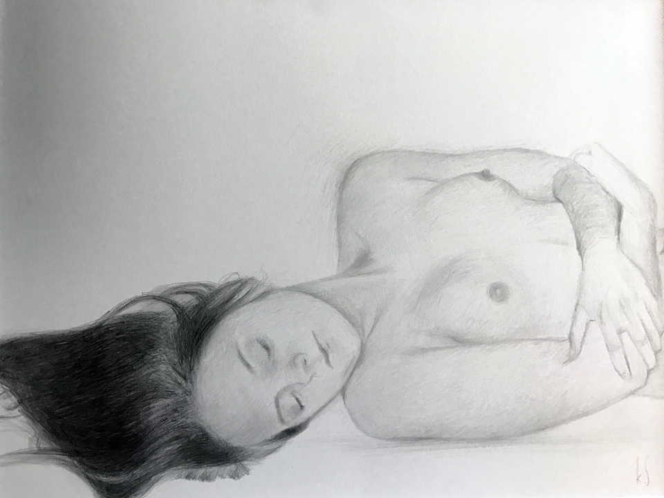 "Lullaby 11"" x 14"" Pencil on Paper"