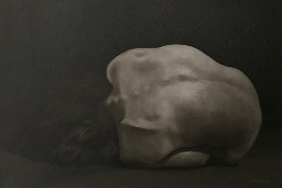 "Dark Days 20"" x 30"" Oil on Linen"