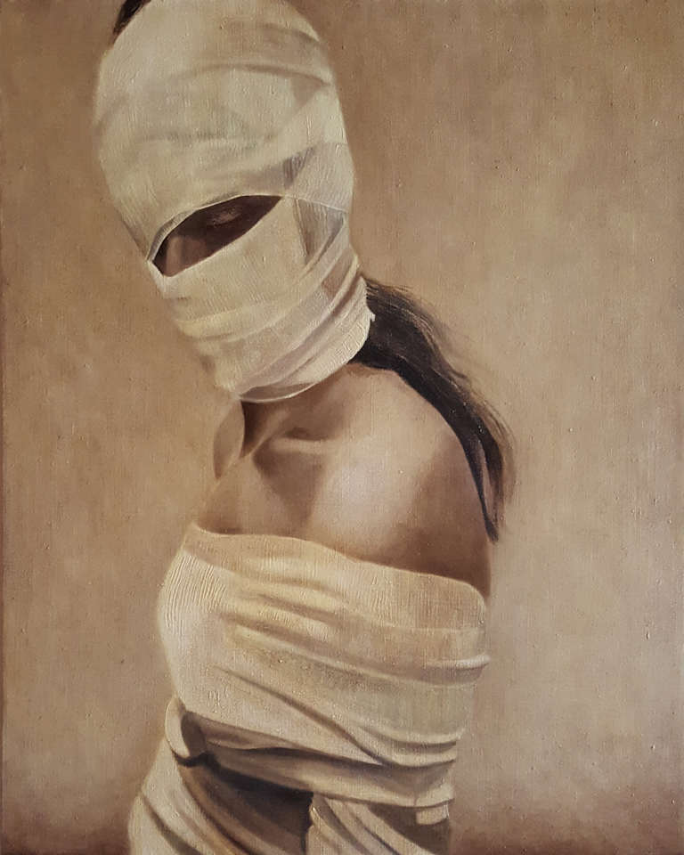 "I Will Resist 30"" x 24"" Oil on Linen"