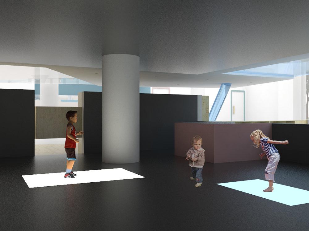 Responsive floor light
