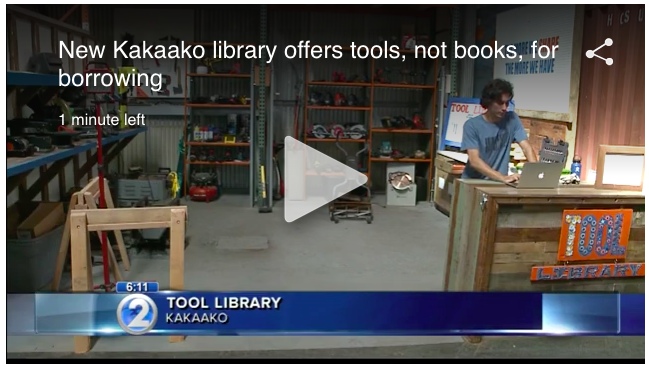 HNL Tool Library on KHON2 - Nov 27, 2016