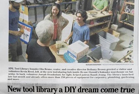 HNL Tool Library on Star-Advertiser - Dec 8, 2016