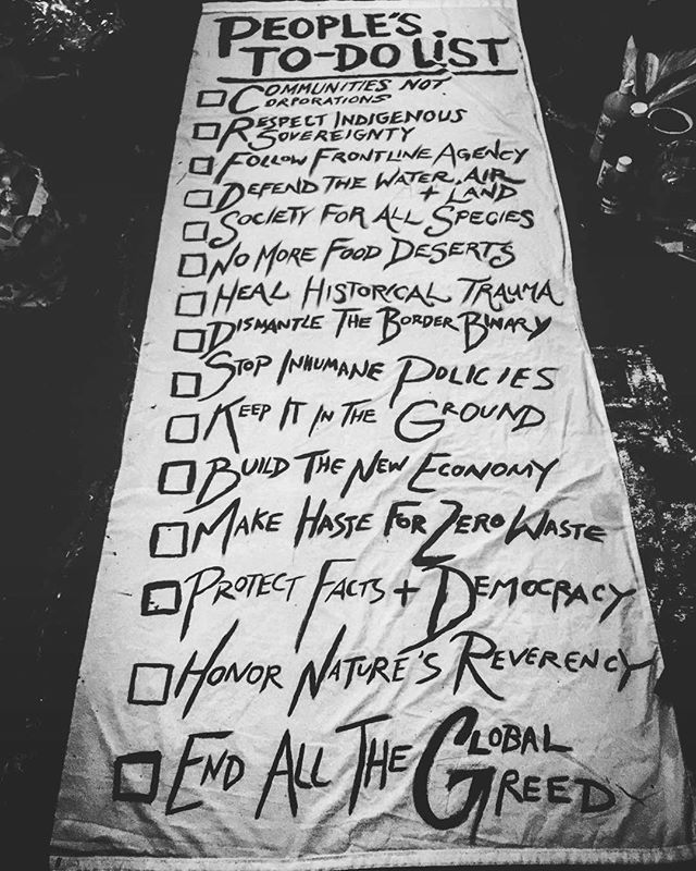 It's up to us.  #Repost @cosmicfloral ・・・ This is the People's To-Do List. It's up to all of us.
