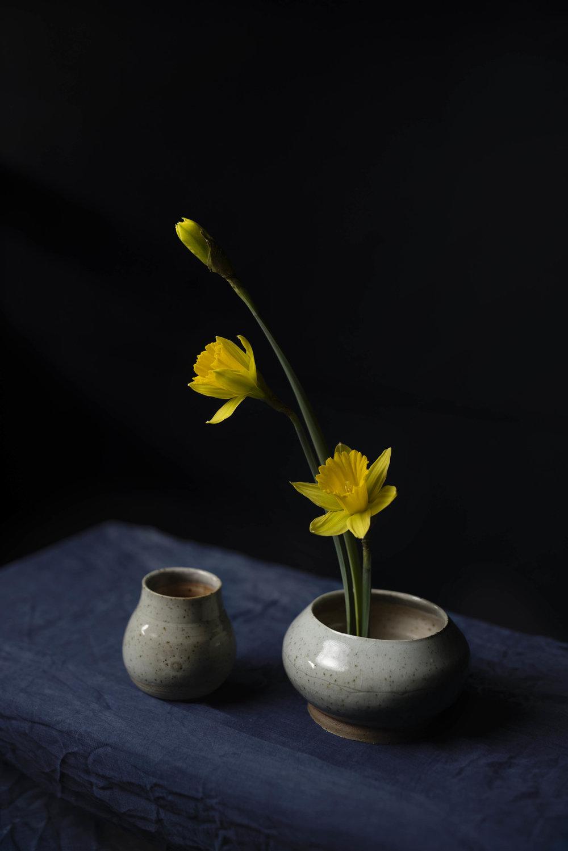 Daffodil & Ceramic Portrait Foxglove Studio,  Vidak Arts