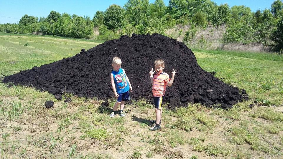 Twins and Compost Mound.jpg
