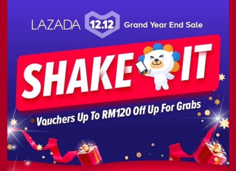 Example of Lazada's Shake-It Campaign.