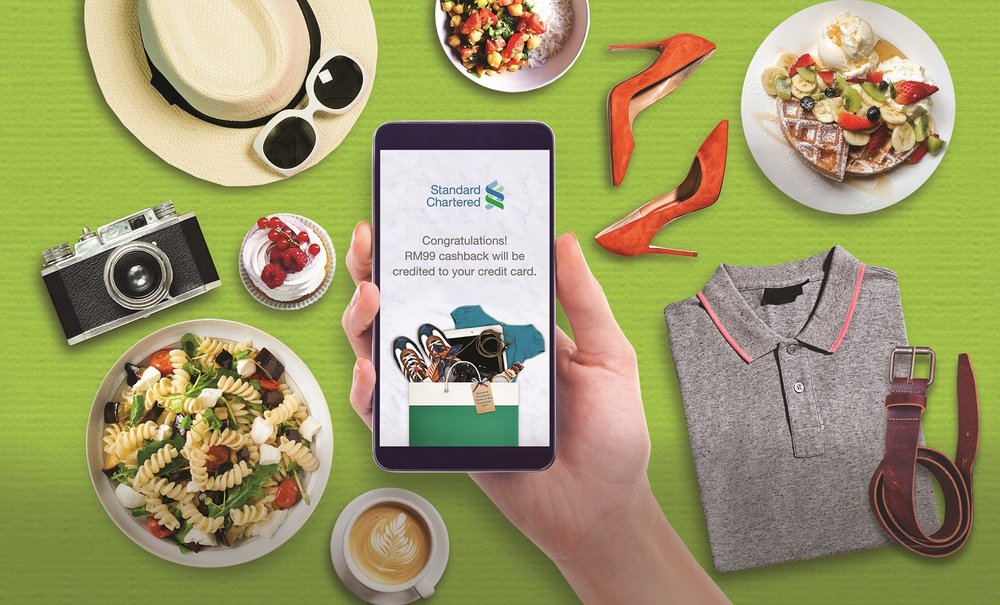 Example of Standard Chartered's Shake & Win Campaign