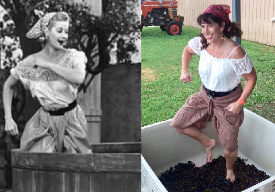 "Anne from Tulsa won the ""I love lucy!"" look-alike contest!"