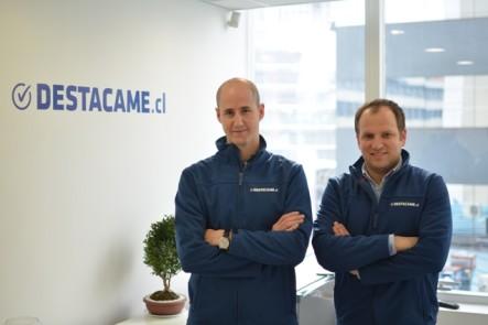 Sebastián Ugarte and Jorge Camus, cofounders of Destacame