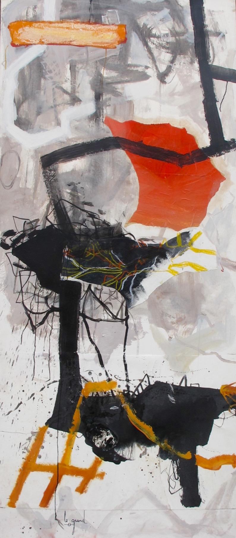 """""""TOREADOR""""   229 x 100 cm  acrylique et collages"""