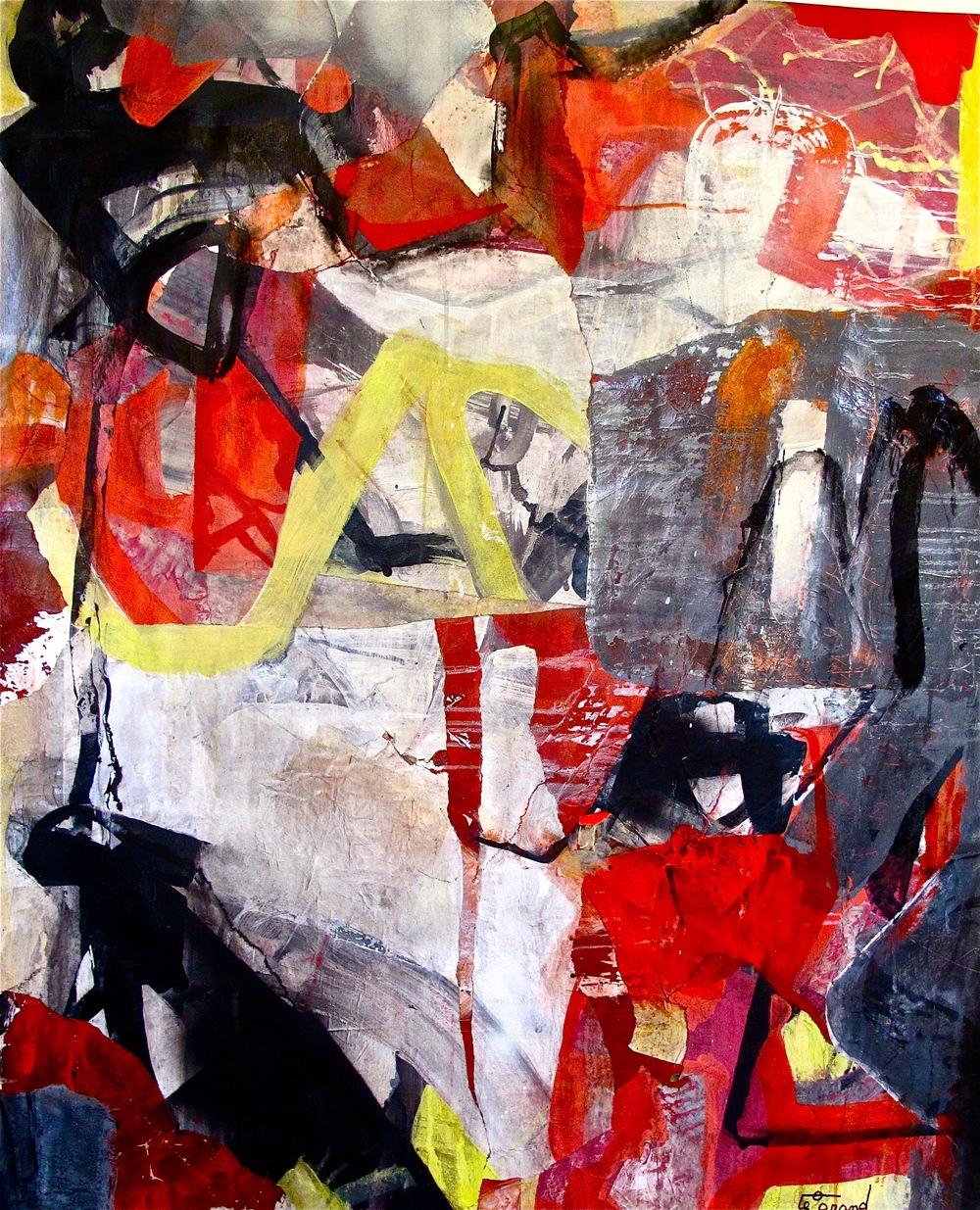 """""""BENNY GOODMAN""""   150 x 143 cm  acrylique et collages"""