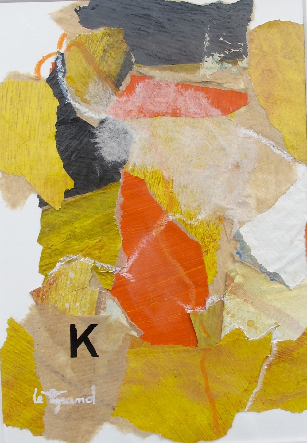"""  K  "" 20 x 15cm, collages"