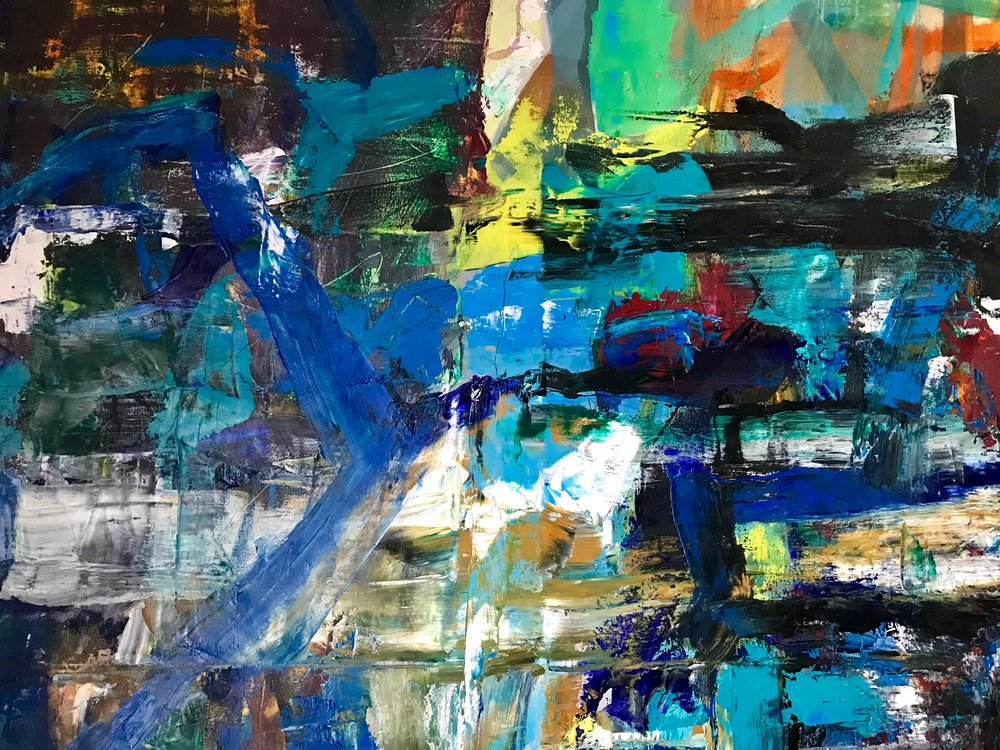 """"""" COLOMBIER""""   130 X 97  huile"""