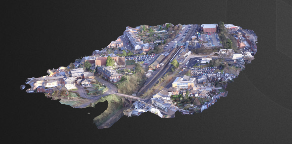 Aerial City Centre 3D Image