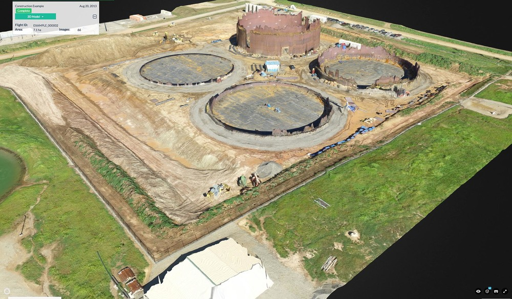 Aerial Orthomosaic 3D Image of Construction Site