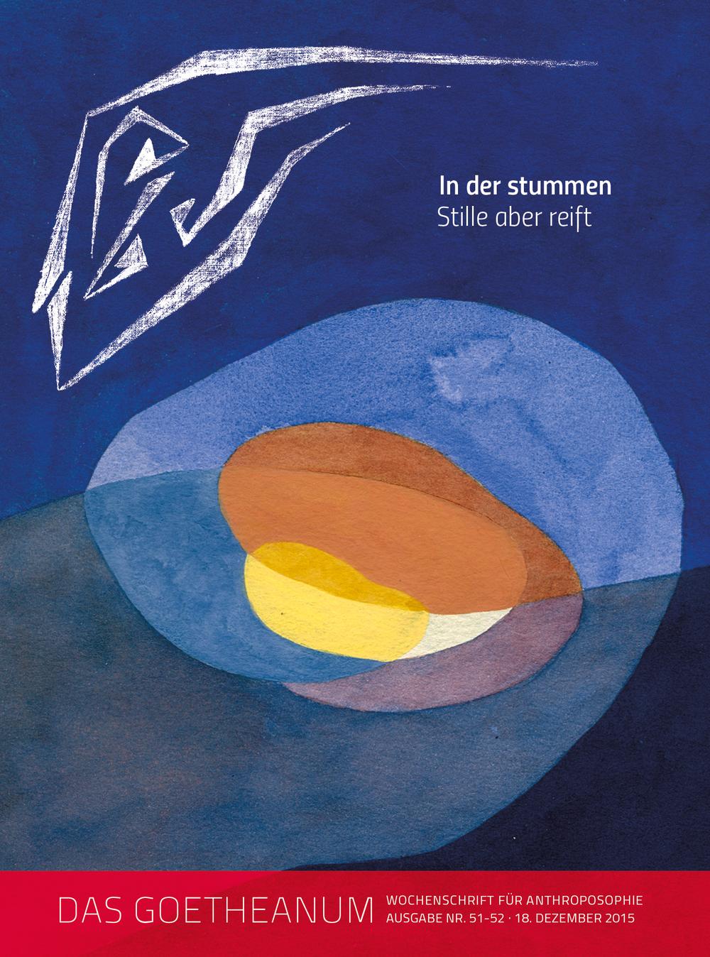 «Sterne sprachen einst zu Menschen, · Ihr Verstummen ist Weltenschicksal; Des Verstummens Wahrnehmung · Kann Leid sein des Erdenmenschen; In der stummen Stille aber reift · Was Menschen sprechen zu Sternen; · Ihres Sprechens Wahrnehmung · Kann Kraft werden des Geistesmenschen.» Rudolf Steiner ‹Für Marie Steiner› 25.12.1922. Bild von Shira Nov, siehe auch Seiten 4, 12-17.