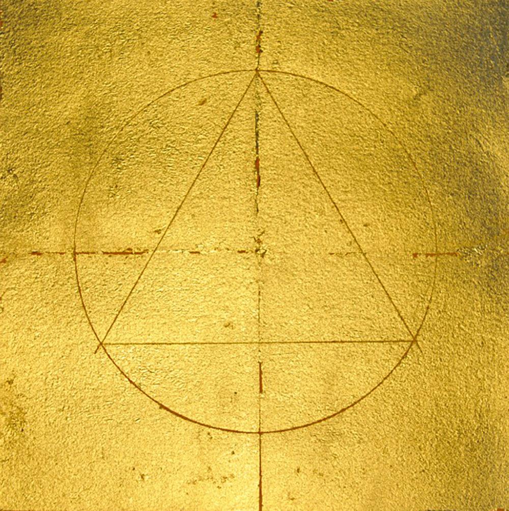 ‹Im Urbeginne III› Gold auf Papier, Barbara Schnetzler