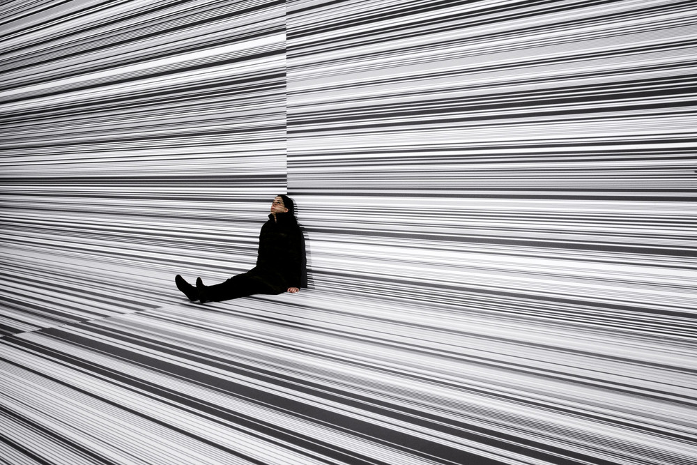 data.tron [8K enhanced version], audiovisual installation, 2008-09 © Ryoji Ikeda, photo by Liz Hingle