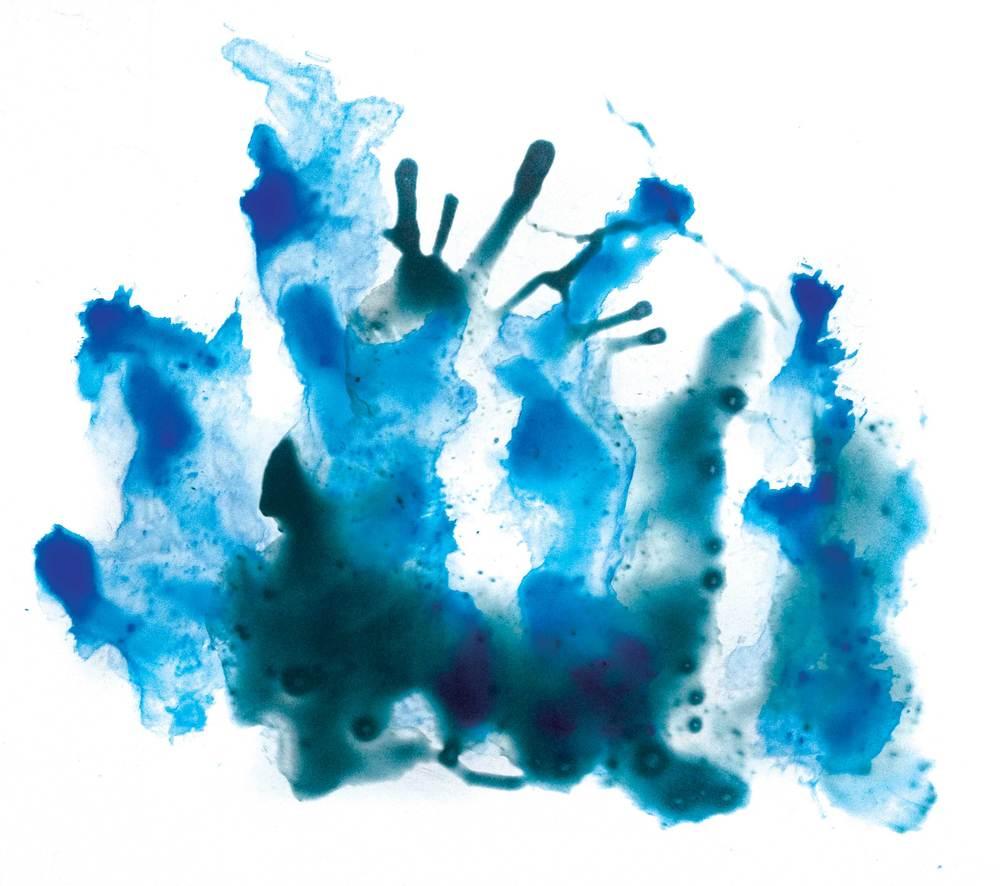 Pigment auf Steinpapier von Asaf Hameiri