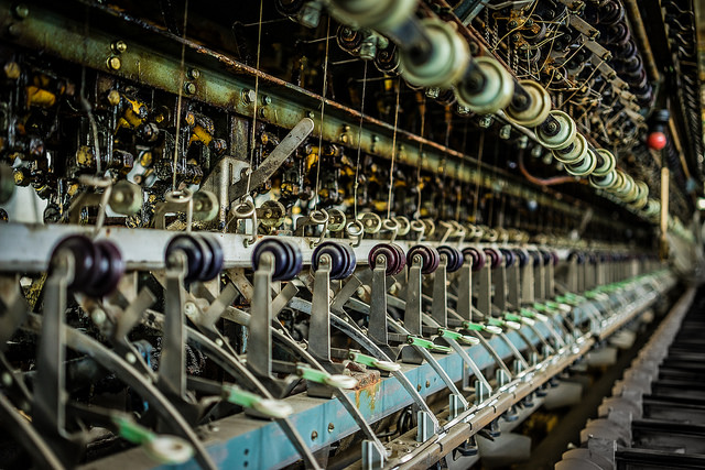 Silk Reeling Machine at Tomioka Silk Mill - UNESCO World Heritage Site, CC  aotaro