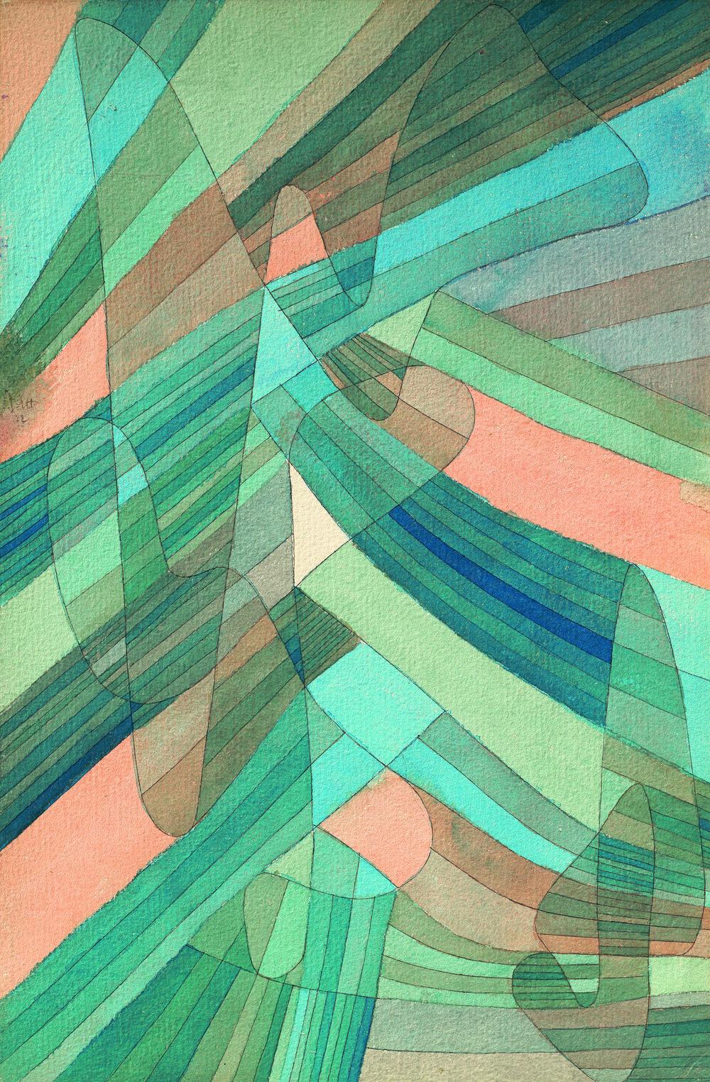 Polyphone Strömungen, 1929, 238 Aquarell und Feder auf Papier auf Karton, 43,9 x 28,9 cm, bpk / Kunstsammlung Nordrhein-Westfalen, Düsseldorf