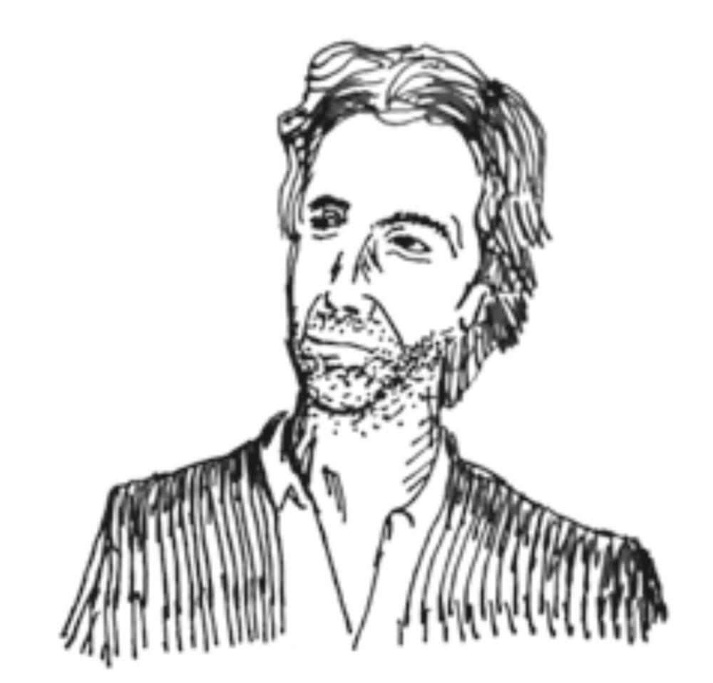 Simon Reakes' Hintergrund ist Homöopathie, kontemplative Praxis und Meditation. Ausgehend vom Field Centre (Ruskin Mill Trust Education Center), unterrichtete er angehende Heilpädagogen, Landwirte und Lehrer in Kursen zur Biografie Rudolf Steiners und zu den Grundlagen der Anthroposophie und gab Einführungen in die goetheanistische Wissenschaft. · Zeichnung Nathaniel Williams