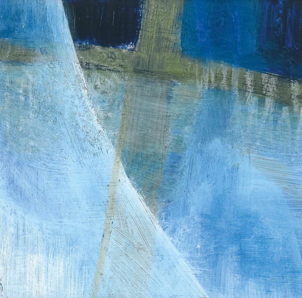 Malerei von Christiane Haid –Acryl und Kreide auf Hartfaserplatte 10×10cm,2008
