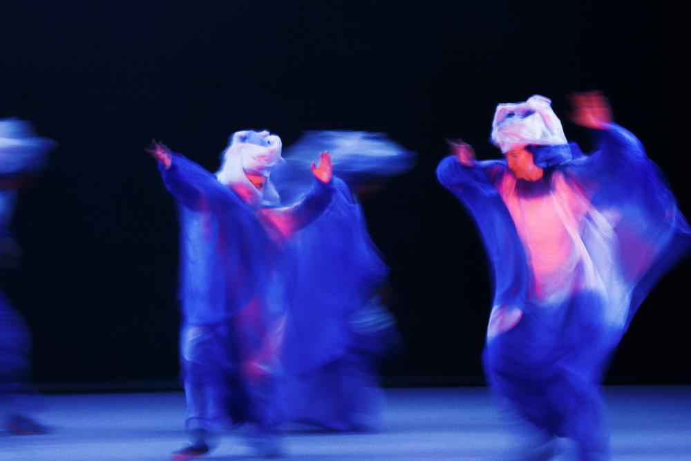 Im Reichtum des Seelenlebens begegnen sich Sprache und Bewegung. Fluxionen von Licht und Farbe, Worte und Klang beseelt. Spiele des inneren Lebens kommen auf die Bühne, um anderen Wesen zu begegnen, Gefühle entstehen und ein Echo liegt in der Luft. Die Gegenwart ist verdichtet und innig.
