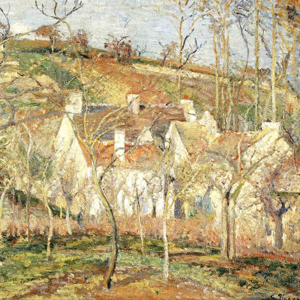 Camille Pissarro, Die roten Dächer, 1877