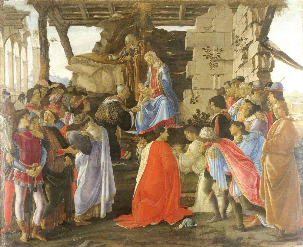Anbetung der Heiligen drei Könige von Sandro Botticelli, 1476