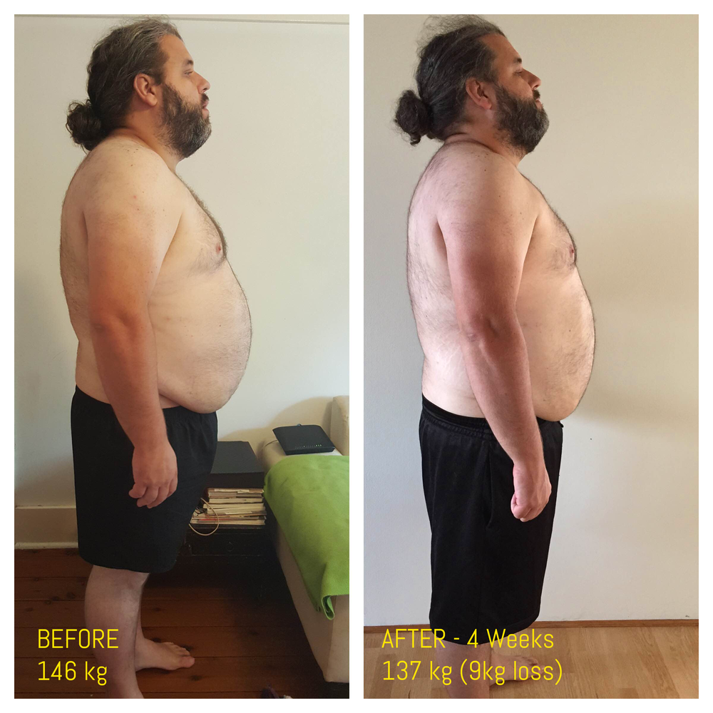 In 4 short weeks with Glow, Klaus has already lost 9kg and well on the path to his goal of a happier, healthier life.
