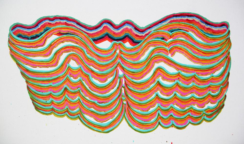 105x55 cm  akryl på duk